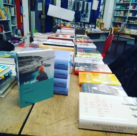 Mein Roman in der Buchhandlung